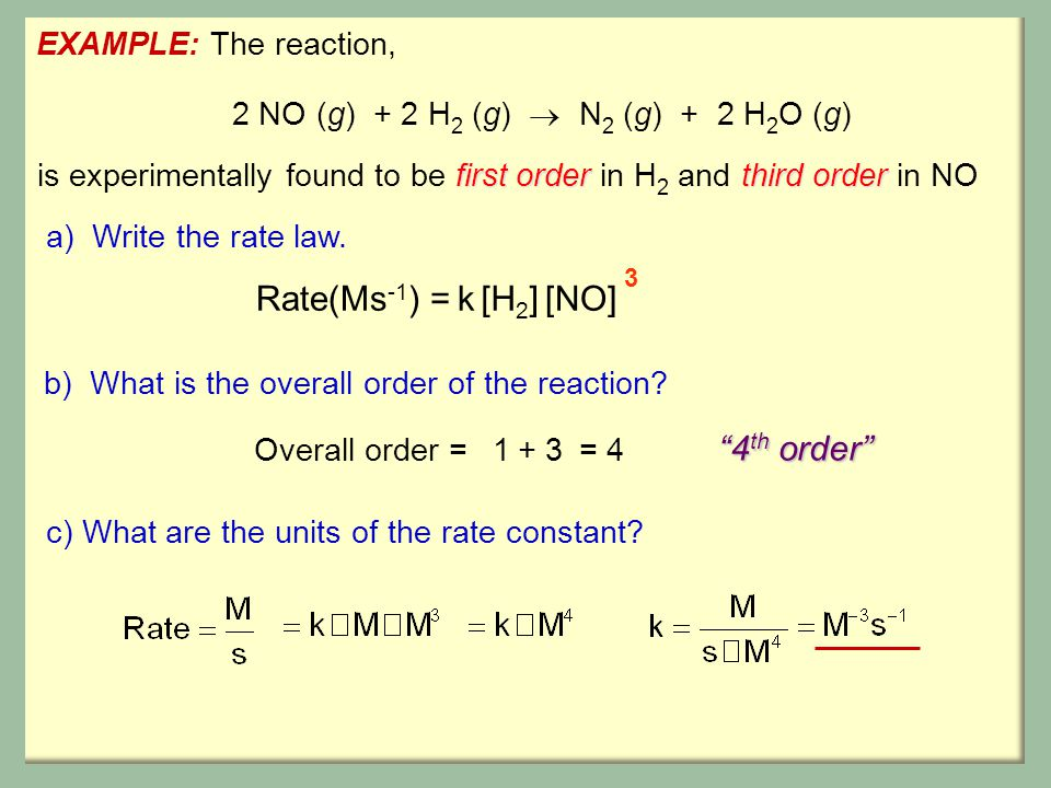 rates of chemical reactions ii